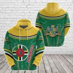 Dominica Circle Stripes Flag Version All Over Print Shirts
