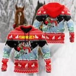 Horse Christmas & Santa Claus All Over Print Shirts