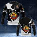 Customize Mozambique Coat Of Arms - Flag V2 All Over Print Hoodies