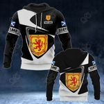 Customize Scotland Coat Of Arms - Flag V2 All Over Print Hoodies