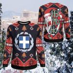 Greece Christmas - Santa Claus Ho Ho Ho Sweatshirt