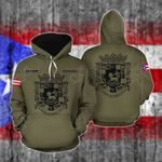 Customize Puerto Rico Coat Of Arms All Over Print Hoodie