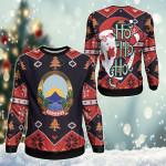 North Macedonia Christmas - Santa Claus Ho Ho Ho Sweatshirt