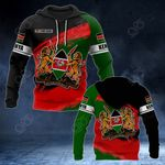 Customize Kenya Coat Of Arms Paint Style All Over Print Hoodies