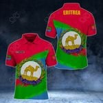 Customize Eritrea Coat Of Arms Paint Style All Over Print Polo Shirt