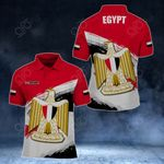 Customize Egypt Coat Of Arms Paint Style All Over Print Polo Shirt