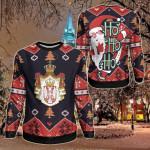 Serbia Christmas - Santa Claus Ho Ho Ho Sweatshirt