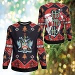 Saint Kitts & Nevis Christmas - Santa Claus Ho Ho Ho Sweatshirt
