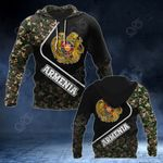 Armenia Coat Of Arms Camo Style All Over Print Hoodies