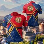 Armenia Legend All Over Print Polo Shirt