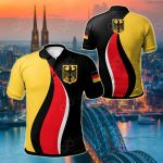 Germany Flag And Coat Of Arms All Over Print Polo Shirt