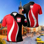 Poland Flag And Coat Of Arms All Over Print Polo Shirt