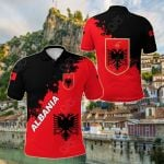 Albania Red Braved Version All Over Print Polo Shirt