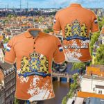 Netherland Coat Of Arms Spaint Style All Over Print Polo Shirt