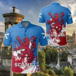 Scotland Coat Of Arms Spaint Style All Over Print Polo Shirt