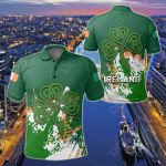 Ireland Coat Of Arms Spaint Style All Over Print Polo Shirt