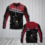 Customize Serbia Coat Of Arms - Reaper All Over Print Hoodies