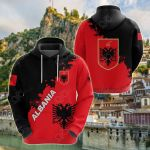 Albania Red Braved Version All Over Print Shirts