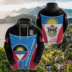 Antigua And Barbuda Circle Stripes Flag Version All Over Print Shirts