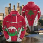 Wales Celtic Circle Stripes Flag Version Dragon All Over Print Shirts