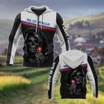 Customize Slovakia Coat Of Arms - Reaper All Over Print Hoodies