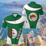 Algeria Circle Stripes Flag Special All Over Print Polo Shirt
