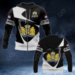 Customize Netherlands Coat Of Arms - Flag V2 All Over Print Hoodies