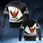 Thailand Coat Of Arms Map - New Form All Over Print Hoodies