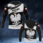 Poland Coat Of Arms Lightning Style All Over Print Hoodies