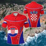 Croatia Circle Stripes Flag Version Hrvatska All Over Print Polo Shirt