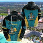Bahamas Circle Stripes Flag Version Pearl All Over Print Shirts