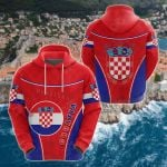 Croatia Circle Stripes Flag Version Hrvatska All Over Print Shirts