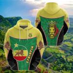 Ethiopia Lion Circle Stripes Flag Version All Over Print Shirts