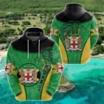Jamaica Lion Circle Stripes Flag Version All Over Print Shirts