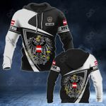 Customize Austria Coat Of Arms - Flag V3 All Over Print Hoodies