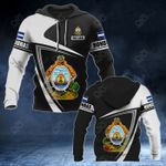 Customize Honduras Coat Of Arms - Flag V3 All Over Print Hoodies