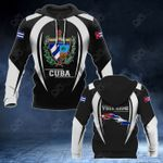 Customize Cuba Coat Of Arms Black Style All Over Print Hoodies