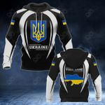 Customize Ukraine Coat Of Arms Black Style All Over Print Hoodies