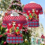 Australia Kangaroo Christmas Version All Over Print Polo Shirt