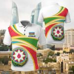 Azerbaijan All Over Print Polo Shirt