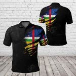 Central African Republic In Me - Special Grunge Style All Over Print Polo Shirt