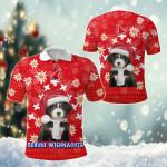 Christmas Edelweiss Switzerland Bernese Mountain Dog All Over Print Polo Shirt