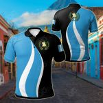 Guatemala Flag And Coat Of Arms All Over Print Polo Shirt