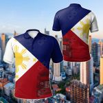 Philippines Flag And Jeepney All Over Print Polo Shirt