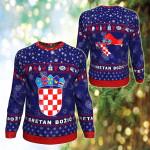 Coat Of Arms Croatia Christmas Sweatshirt