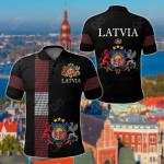 Latvia - United All Over Print Polo Shirt