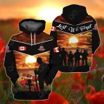Canadian Veterans - Lest We Forget All Over Print Shirts