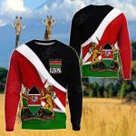 Kenya Impressive Flag All Over Print Shirts