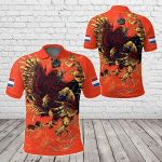 Netherlands Special Lion All Over Print Polo Shirt