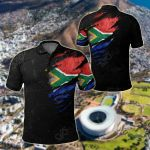 South Africa In Me Special Grunge Style All Over Print Polo Shirt